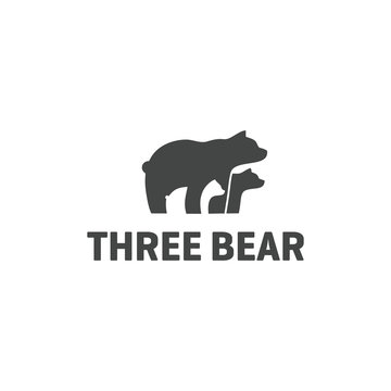 Three Bear Logo Vector