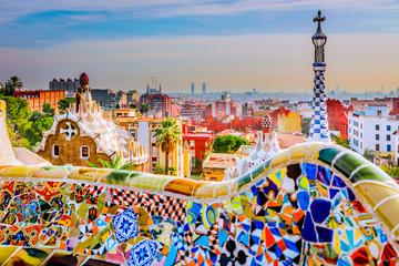 Foto op Canvas Barcelona Park Guell en Barcelona, España, símbolo del turismo.