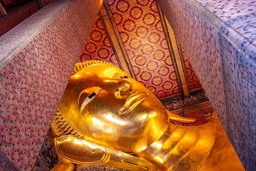 Reclined Buddha in Wat Pho Buddhist Temple, Bangkok, Thailand