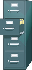 Filing Cabinet Vector Illustration
