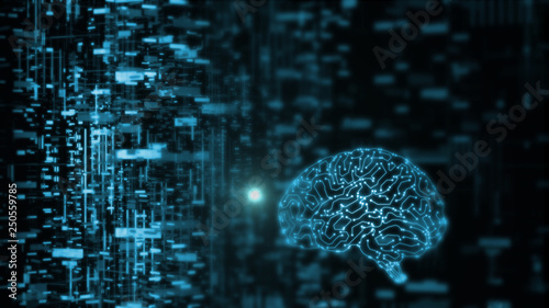 3D Rendering of artificial intelligence (AI) is operating