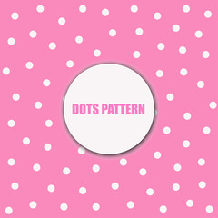 pink polka dots background. illustration cute wallpaper for template or website and social media