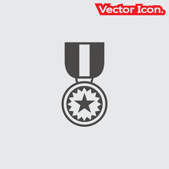 Medal icon isolated sign symbol and flat style for app, web and digital design. Vector illustration.