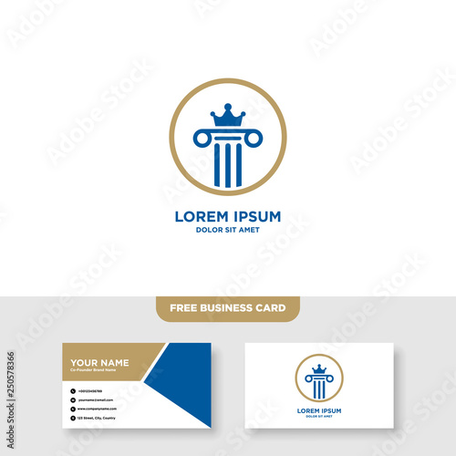 Law Firm Logo, Attorney Logo, Vector, Free Bussines Card Mockup