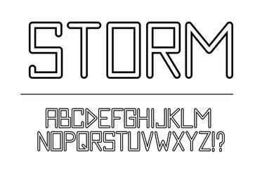 Trendy font. Minimalistic style alphabet.