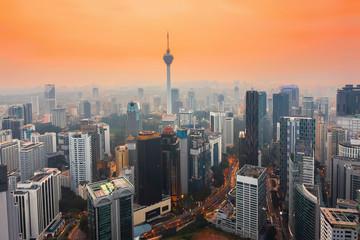 City of Kuala Lumpur, Malaysia at sunset