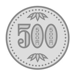 日本のお金のイメージ Japan's money 500円玉