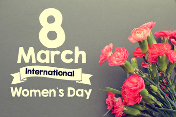 Women's day card or background