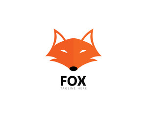 Fox logo template vector icon illustration design