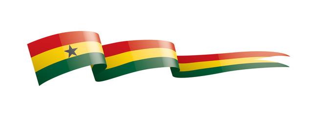 Ghana flag, vector illustration on a white background