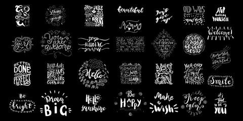 Garden Poster Positive Typography Lettering Bundle