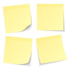 4 Gelbe Haftnotizen