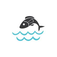 illustration of fish symbol