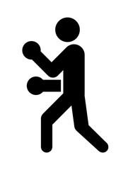 ボクサーのピクトグラム