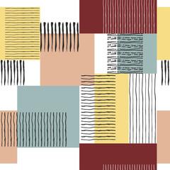 Garden Poster Retro sign seamless retro striped pattern