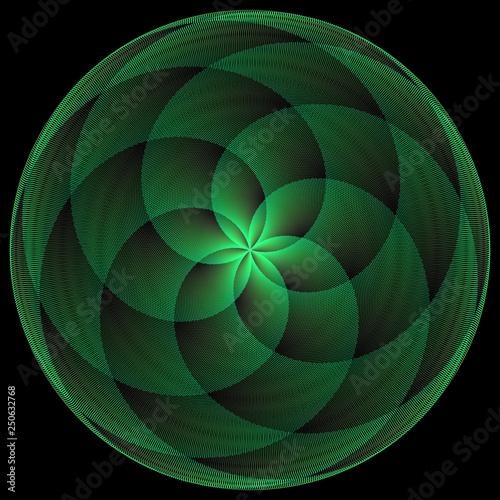 Géométrie étoile à 6 Branches En Expansion Stock Photo And Royalty