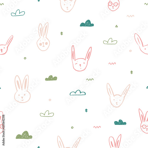 adf84d635 cute pink rabbit pattern for easter card decoration
