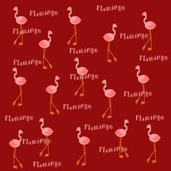 pink flamingos on  burnt sienna
