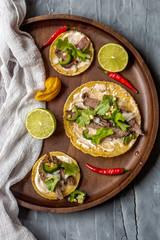 Mexikanische Barbacoa Tacos