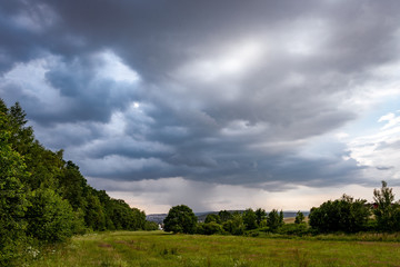 Dramatic sky with storm clouds