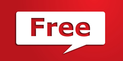 free text in dialog bubble Wall mural