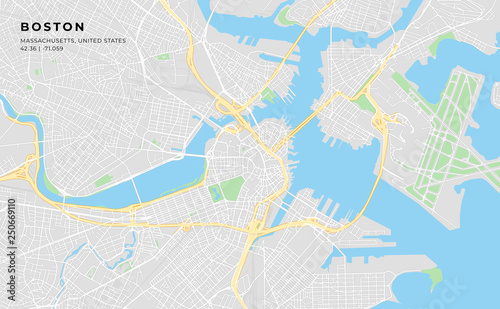 graphic relating to Printable Map of Boston known as Printable road map of Boston, Machusetts\