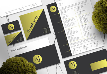 Black and Gold Personal Branding Set