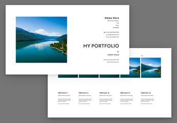 Personal Portfolio Presentation Layout