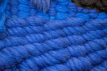 Arrière plan maille tricotée en grosse laine