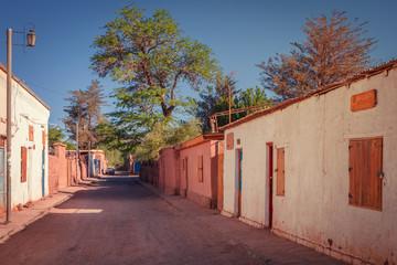 Street in the town of San Pedro de Atacama, Chile