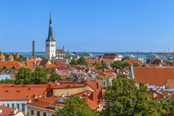 Panoramic view of Tallinn, Estonia