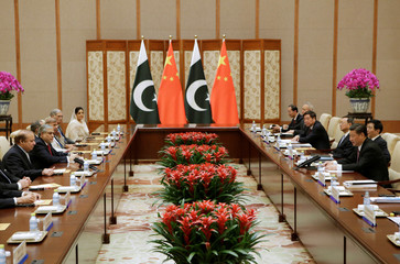 Pakistani Prime Minister Nawaz Sharif meets Chinese President Xi Jinping in Beijing