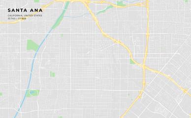 Printable street map of Santa Ana, California