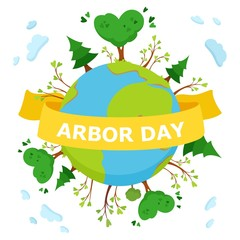 National Arbor Day  concept Illustration