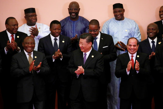 Group photo session during the Forum on China-Africa Cooperation (FOCAC) 2018 Beijing Summit in Beijing