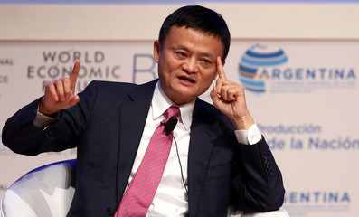 Alibaba Group Executive Chairman Jack Ma speaks during the Business Forum at the 11th World Trade Organization's ministerial conference in Buenos Aires