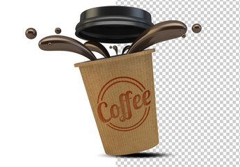 Takeout Coffee Cup Mockup