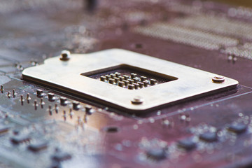 Chip on motherboard with golden contacts