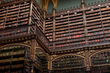 Beautiful Decorated Shelves Full of Antique Books