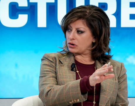 Maria Bartiromo, Anchor and Global Markets Editor at Fox Business Network, moderates a session at the World Economic Forum (WEF) annual meeting in Davos