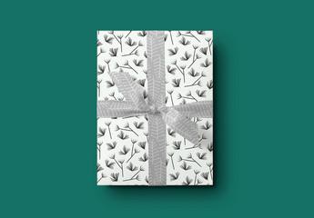 Gift Box with Ribbon Mockup