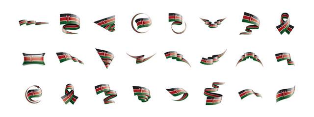 Kenya flag, vector illustration on a white background Wall mural