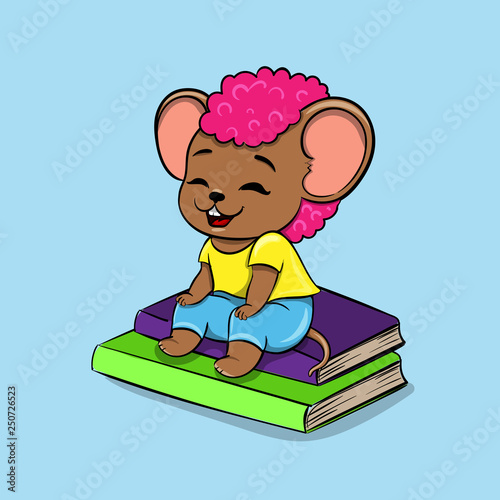 Funny Mouse In Cartoon Style Children S Vector Illustration Stock