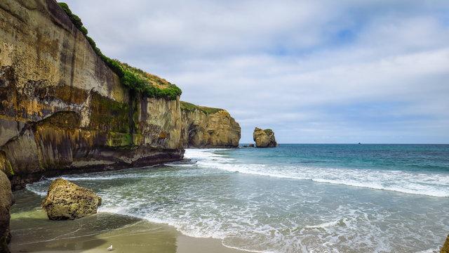 Tunnel Beach near Dunedin in New-Zealand