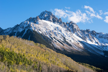 The Sneffels Mountain Range in early Autumn, located within the Uncompahgre National Forest in South Western Colorado.