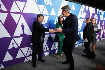 "Nominees Pawel Pawlikowski, director of film ""Cold War"" - Poland, Hirokazu Kore-eda, director of film ""Shoplifters"" - Japan and Nadine Labaki, director of ""Caparnaum"" - Lebanon, attend a pre Oscar reception"