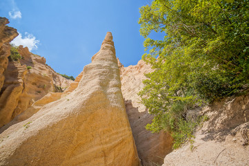 Lame Rosse Volcanic mountain formations in italy