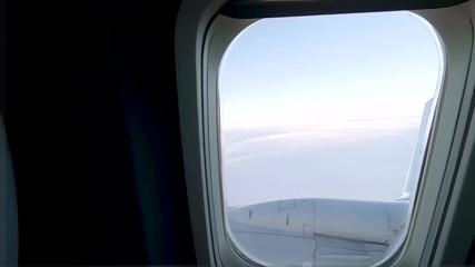 Wall Mural - View from the commercial passenger airplane.
