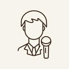 Journalist line icon