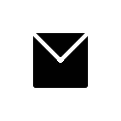 mail glyph vector icon
